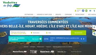 Site internet de Bateaux Bus du Golfe