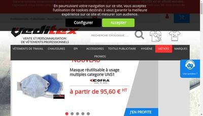 Site internet de Veditex