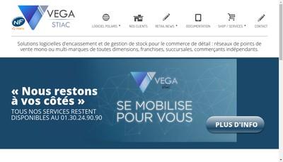 Site internet de Vega Informatique
