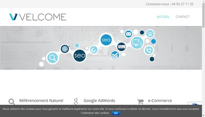 Site internet de Velcome