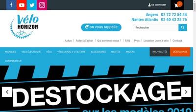 Site internet de Velo Contact