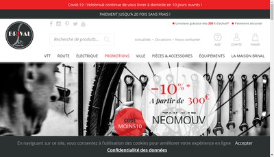 Site internet de Velo Brival