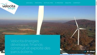 Site internet de Velocita Energies