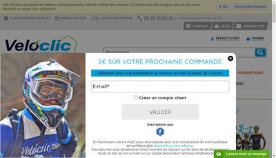 Site internet de Veloclic