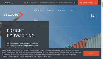 Site internet de Rogers International Distribution Sces