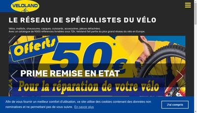 Site internet de Veloland Arras