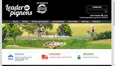Site internet de Velotority