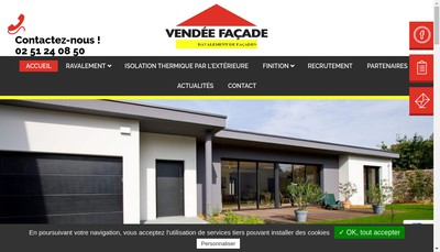 Site internet de SARL Vendee Facade