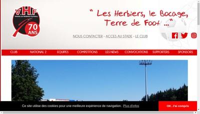 Site internet de Vendee les Herbiers Football