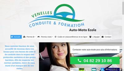 Site internet de Venelles Conduite et Formation