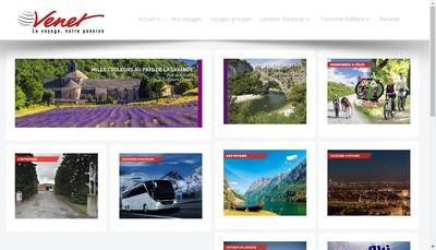 Site internet de Venet Voyages