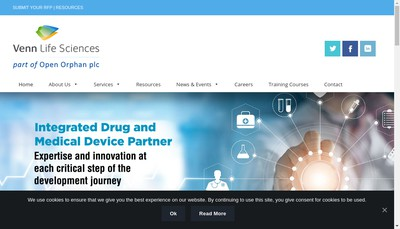 Site internet de Venn Life Sciences (France)