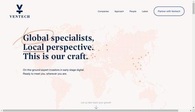 Site internet de Ventech