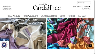 Site internet de Tissage de Cardailhac
