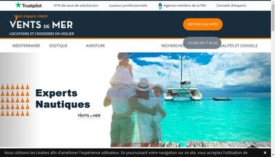 Site internet de Vents de Mer