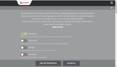 Site internet de GIE Veolia Placements