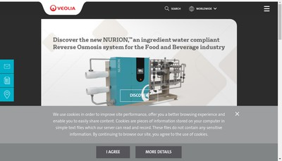 Site internet de Veolia Water Technologies