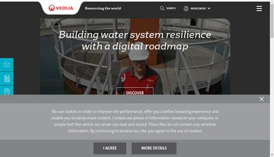 Site internet de Veolia Water Solutions & Technologies Participations 4