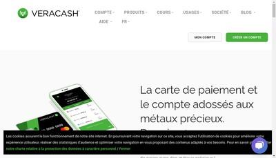 Site internet de Veracash
