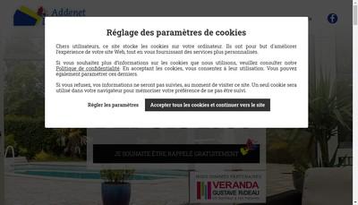 Site internet de Addenet - Lamorlette