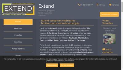 Site internet de Extend