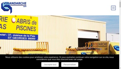 Site internet de Verandarche SARL