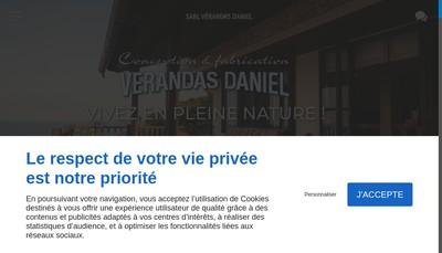 Site internet de Verandas Daniel