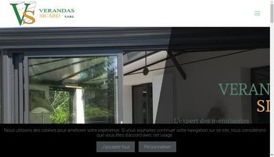 Site internet de Verandas Sicard