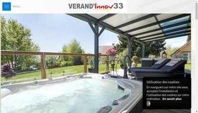 Site internet de Verand' Innov 33