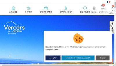 Site internet de Office de Tourisme Vercors Drome