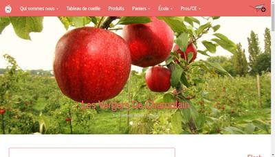 Site internet de Les Vergers de Champlain