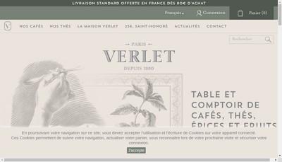 Site internet de Cafes Verlet