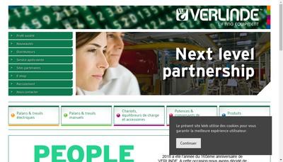 Site internet de Verlinde SAS
