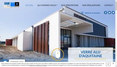 Site internet de Verre Alu d'Aquitaine