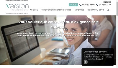 Site internet de Version internationale