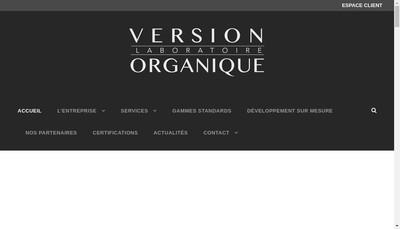 Site internet de Version Organique