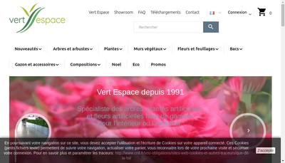 Site internet de Vert Espace