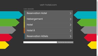 Site internet de Vert Hotel
