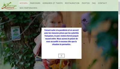 Site internet de Vert'Tige Aventure