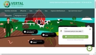 Site internet de Groupe Vertal