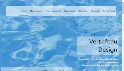 Site internet de Vert d'Eau Design
