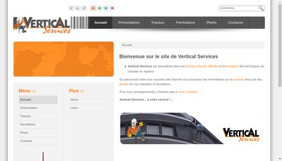Site internet de Vertical Services