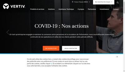 Site internet de Vertiv Industrial Systems SAS