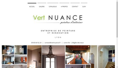Site internet de Vert Nuance