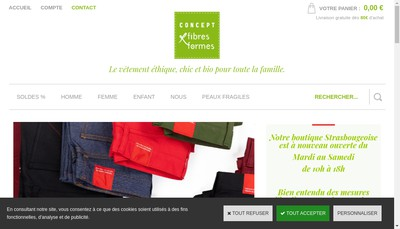 Site internet de Concept Fibres & Formes