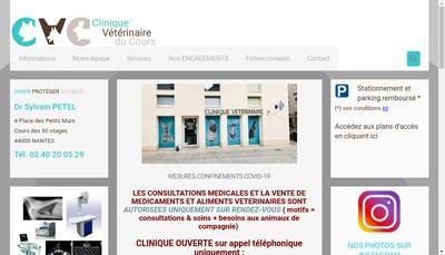 Site internet de Clinique Veterinaire du Cours