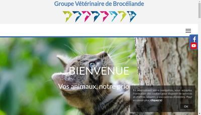 Site internet de Groupe Veterinaire de Broceliande