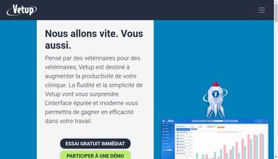 Site internet de Vetup
