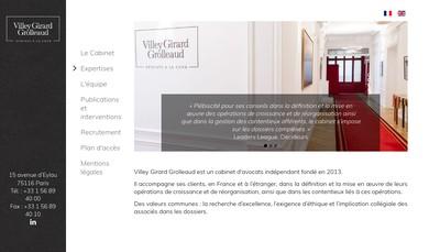 Site internet de Villey Girard Grolleaud