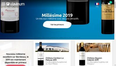 Site internet de Vins de Saint Julien Via Vinum
